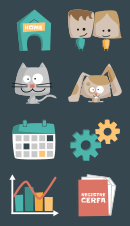 Sets d'icones pour l'application web Planimalin